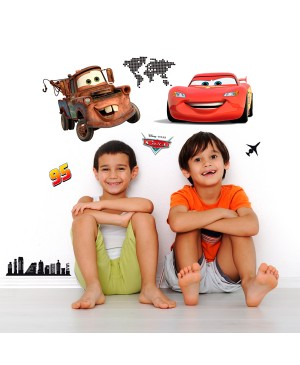 STICKERS DA MURO CARS WORLD (11 PEZZI)
