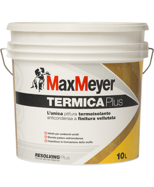MAX MEYER TERMICA PLUS PITTURA MURALE PER INTERNI ANTICONDENSA TERMOISOLANTE LT.10